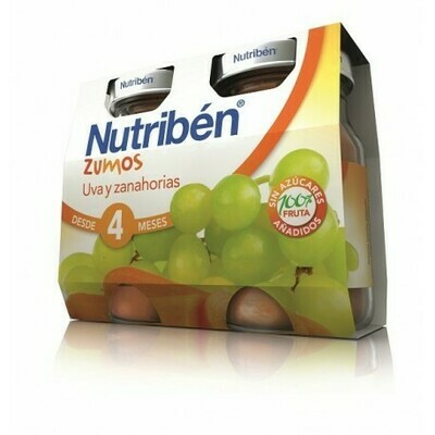 NUTRIBEN ZUMO UVA Y ZANAHORIAS 130 ML 2 U BIPACK