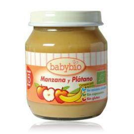 ALMOND BABYBIO POTITOS FRUTAS MANZ-PLAT CIO 2X130