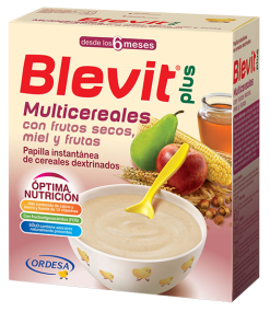 BLEVIT PLUS MIEL FRUTOS SECOS Y FRUTAS MULTICERE 600 G