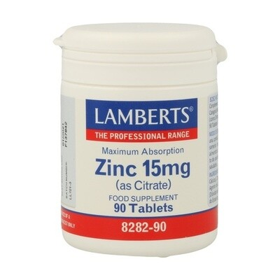 LAMBERTS ZINC 15MG 90TABLETAS