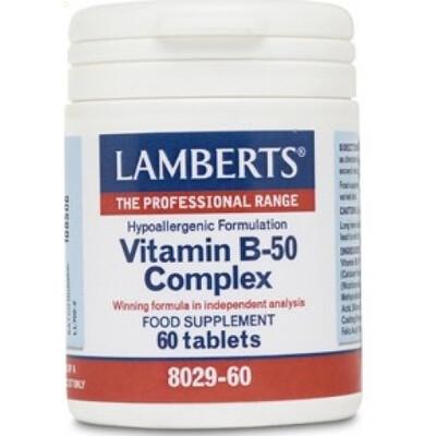 LAMBERTS COMPLEJO DE VITAMINAS B-50 60 TABL