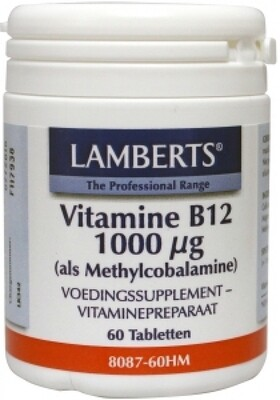LAMBERTS VIT.B12 1000 60 TABLETAS