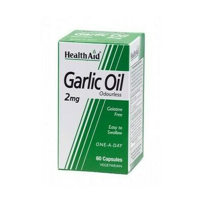 HEALTH AID ACEITE AJO GARLIC 60CAPS