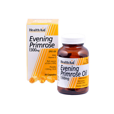 HEALTH AID EVENING PRIMROSE( ACEITE ONAGRA) 1300 VIT E