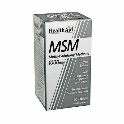 HEALTH AID MSM 1000 MG 90 TABLETAS