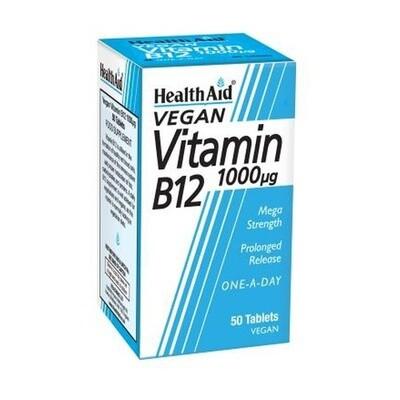 HEALTH AID VITAMIN B12 50 COMP
