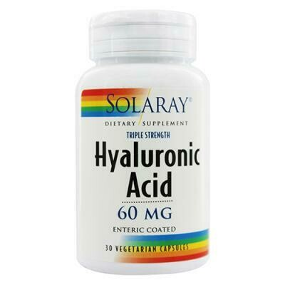 SOLARAY HYALURONIC ACID 60MG, 30CAP