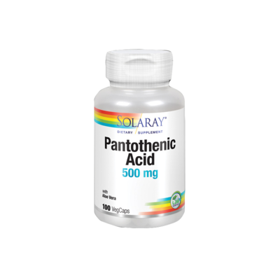 SOLARAY PANTOTHENIC ACIDO 500MG 100 CAPSULAS