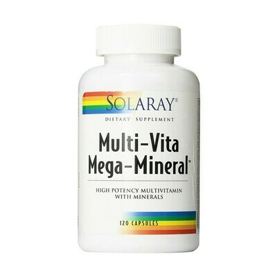 SOLARAY MEGA MULTIMINERAL 120 CAPSULAS