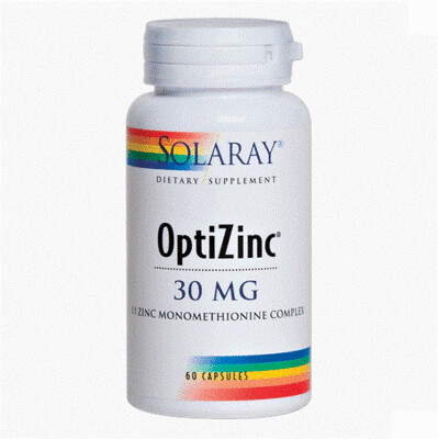SOLARAY OPTIZINC (ZN B6) 60 CAP