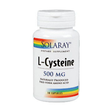 SOLARAY L-CYSTEINE 500MG 30 CAPS