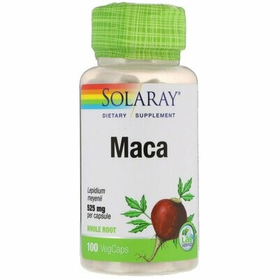SOLARAY MACA 525 MG 100 CAP