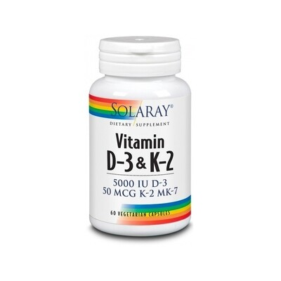 SOLARAY VITAMIN D3 K2 60 CAP