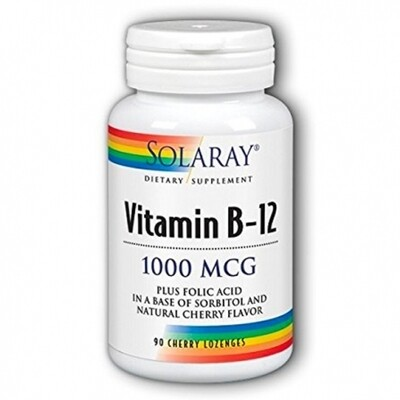 SOLARAY VITAMINA B12   ACIDO FOLICO 1000MCG 90 CAPS