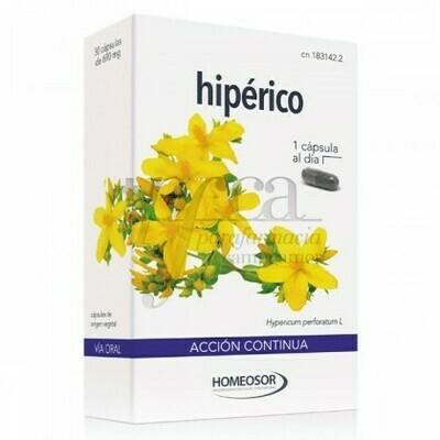 HIPERICO  ACCION CONTINUA CAPSULAS SORIA NATURAL 30 CAPS