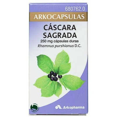 CASCARA SAGRADA ARKOCAPSULAS 250 MG 50 CAPSULAS