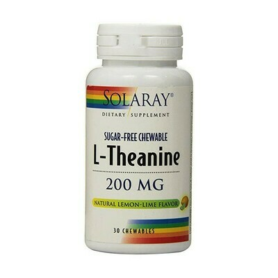 SOLARAY L-THEANINE 200MG 30 PASTILLAS