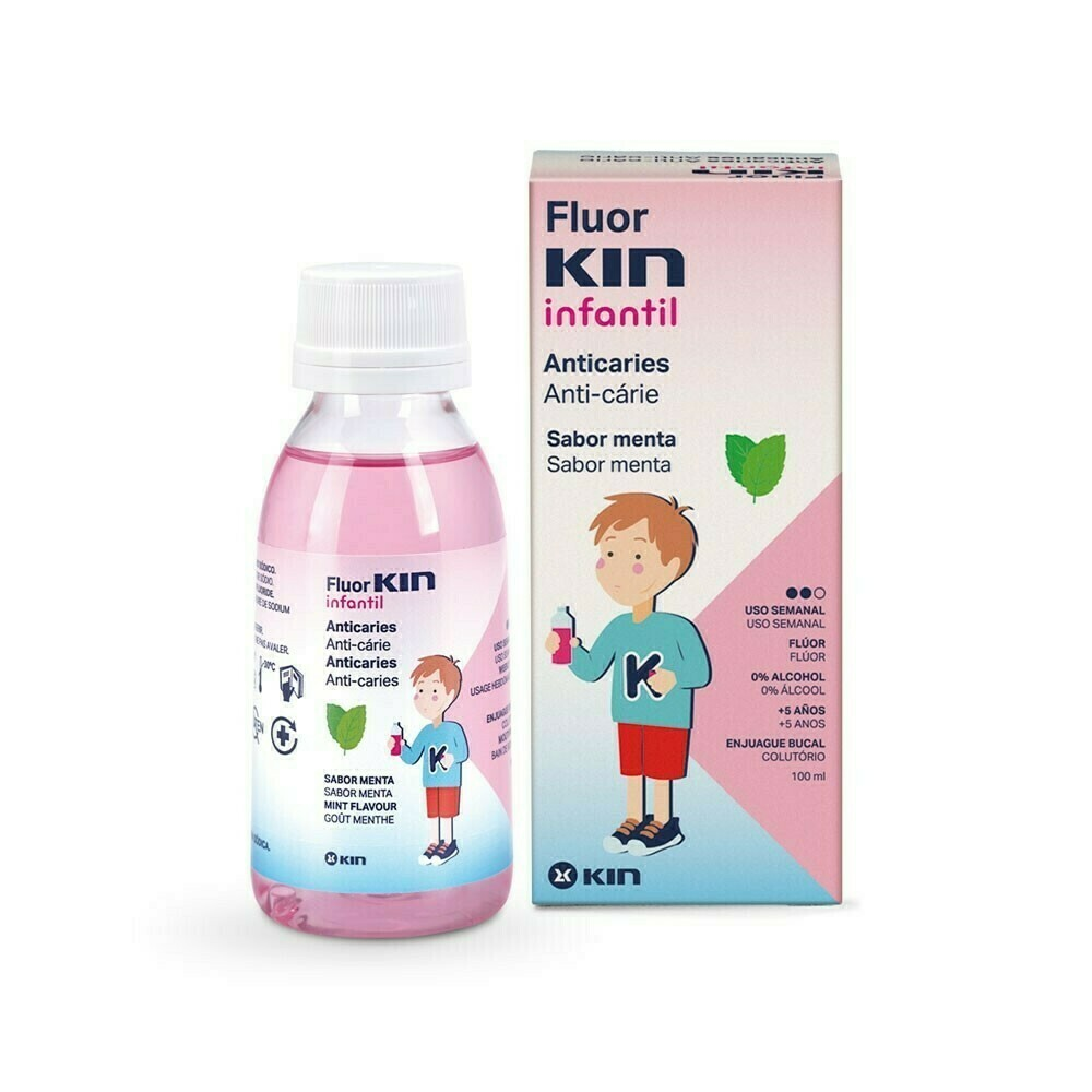FLUOR KIN INFANTIL COLUTORIO SEMANAL 0,2 100 ML