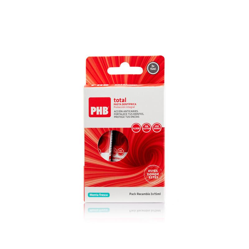 PHB PACK TOTAL PASTA DENTAL RECAMBIO 15 ML 3 U