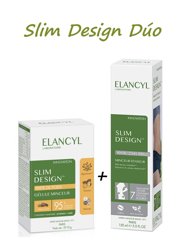 ELANCYL SLIM DESIGN DUO CAPSULAS REDUCTORA   GEL PACK 60 CAPSULAS   150 ML