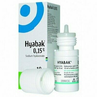 HYABAK 0.15% SOLUCION HIDRATANTE LENTES DE CONTA 10 ML
