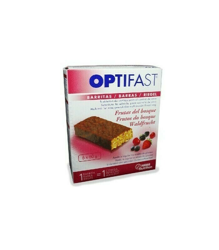 OPTIFAST BARRITAS 70 G 6 BARRITAS FRUTOS ROJOS
