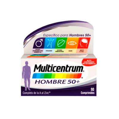 MULTICENTRUM HOMBRE 50  90 COMPRIMIDOS