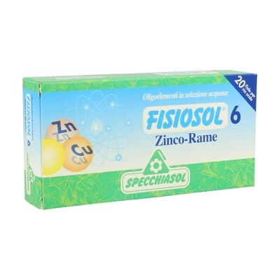 FISIOSOL ZINC COBRE 20 VIALES