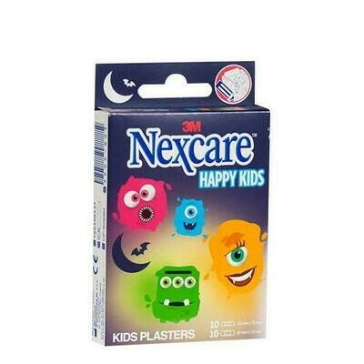 3M NEXCARE ACTIVE HAPPY KIDS APOSITO ADHESIVO MONSTERS 10 U 25 MM X 72 MM   10 U