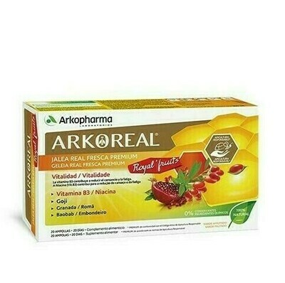 ARKOREAL JALEA REAL ROYALFRUITS 20 AMPOLLAS