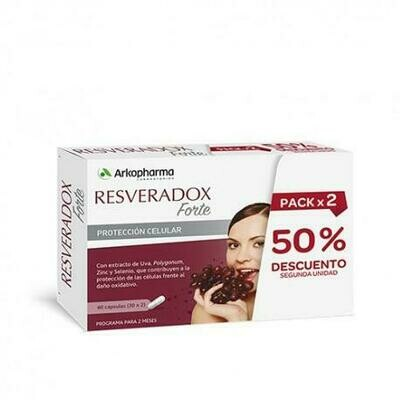 ARKOPHARMA RESVERADOX FORTE PACK 2X30CAPSULAS