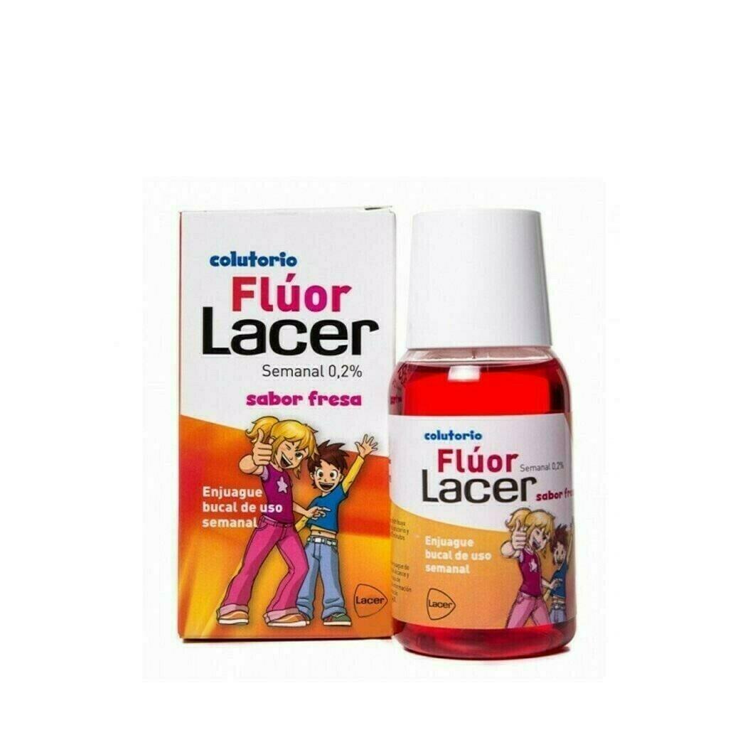 LACER COLUTORIO FLUOR SEMANAL 0,2 % FRESA 100 ML