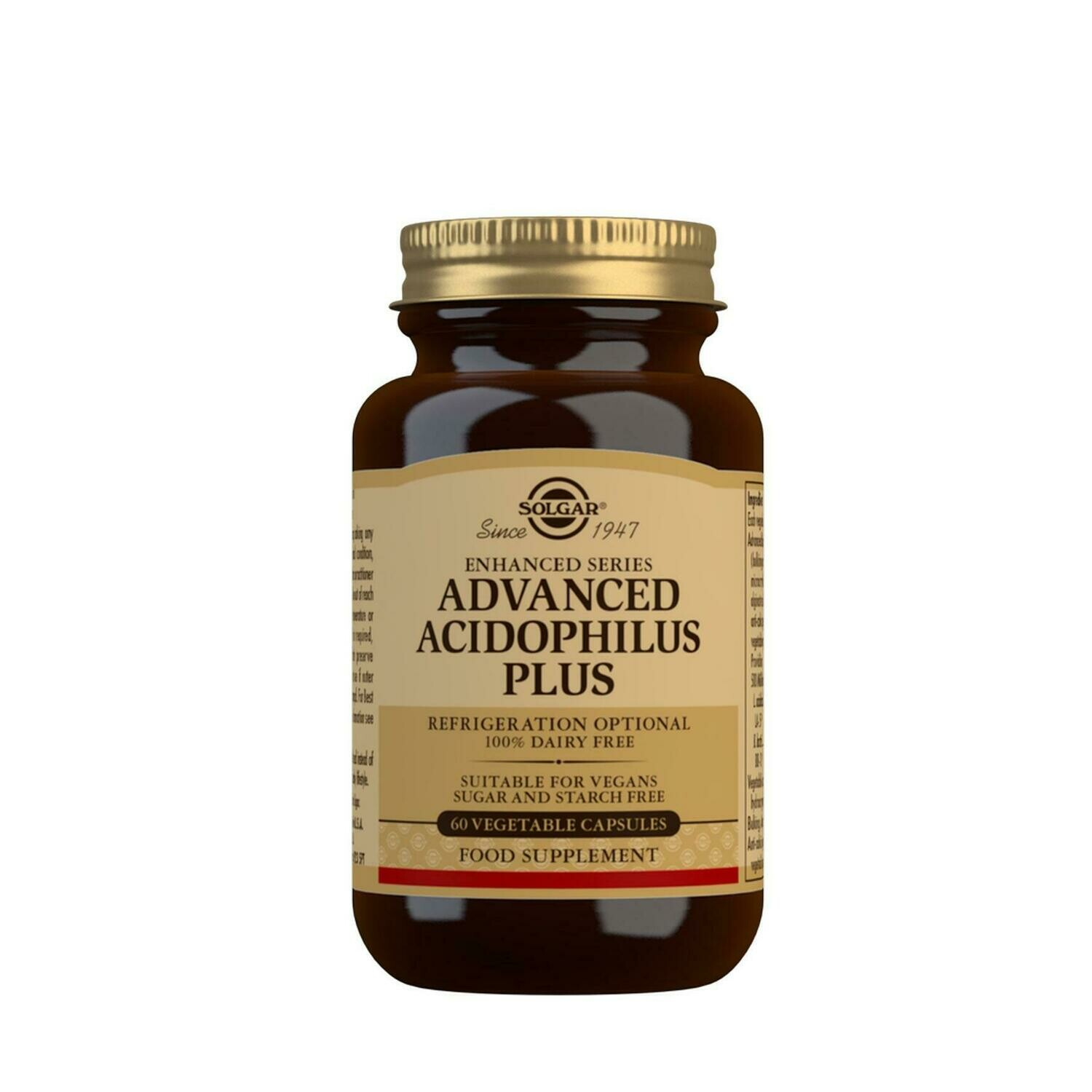 SOLGAR ACIDOPHILUS PLUS AVANCED 60 CAPSULAS