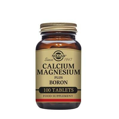 SOLGAR CALCIUM MAGNESIUM PLUS BORON 100 CPS
