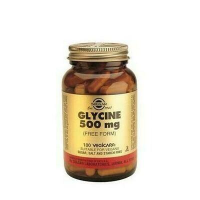 SOLGAR GLICINA 500MG VEGICAPS 100
