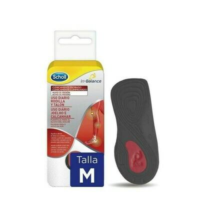 PLANTILLAS USO DIARIO RODILLA Y TALON SCHOLL IN- TALLA M 1 PAR