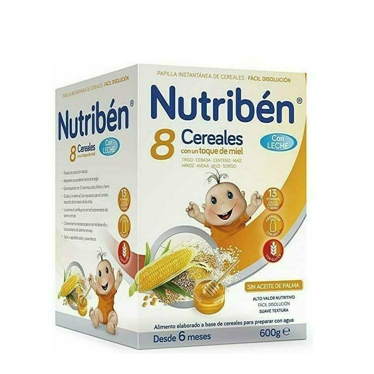 NUTRIBEN 8 CEREALES Y MIEL C LECHE ADAPTADA 600 G