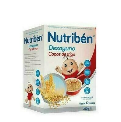 NUTRIBEN DESAYUNO COPOS DE TRIGO CON FRUTAS 750 G