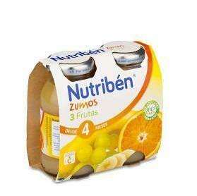 NUTRIBEN ZUMO 3 FRUTAS 130 ML 2 U BIPACK