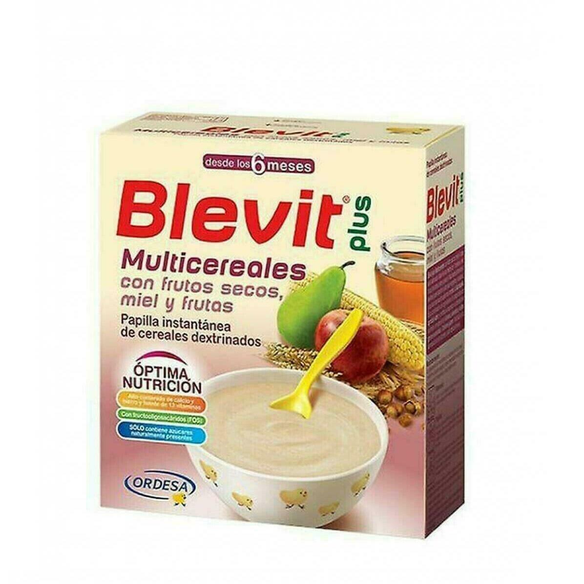 BLEVIT PLUS MIEL FRUTOS SECOS Y FRUTAS MULTICERE 600 G