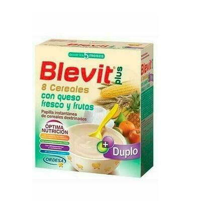 BLEVIT PLUS DUPLO 8 CEREALES QUESO Y FRUTA 600 G