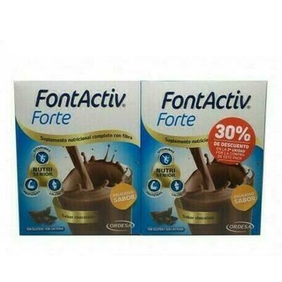 FONTACTIV FORTE PACK DESCUENTO 2 U 30 G 14 SOBRES CHOCOLATE