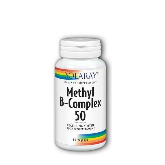 SOLARAY B-COMPLEX 50 COENZYME 60CAPS