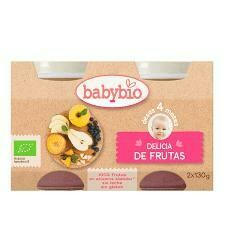 BABYBIO POT FRUTAS BIO 2X130