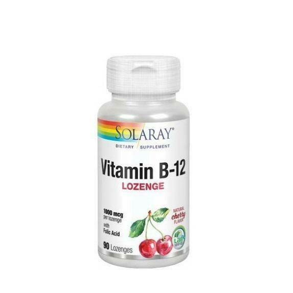 SOLARAY VITAMINA B12   ACIDO FOLICO 1000MCG 90 CAPS