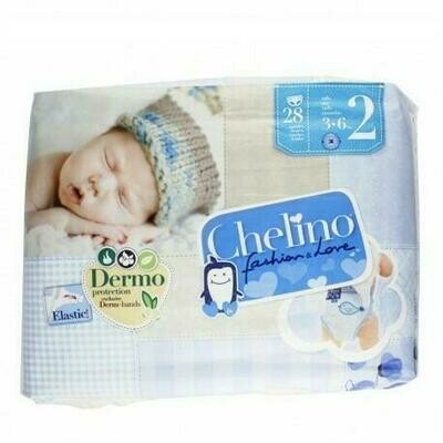 CHELINO FASHION  LOVE PAÑAL INFANTIL T- 2 (3 - 6 KG) 28 PAÑALES