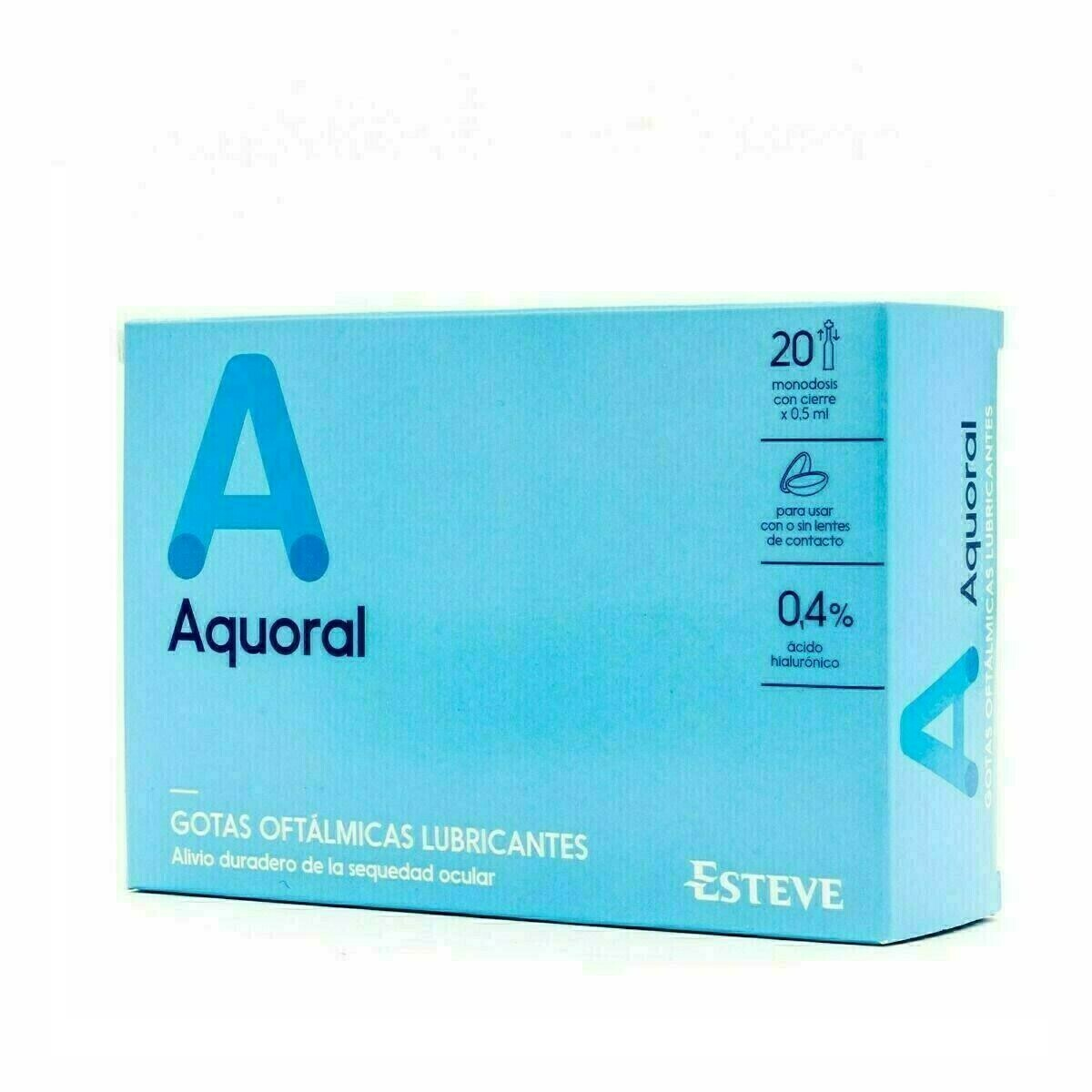 AQUORAL GOTAS HUMECTANTES C/ A HIALURONICO 0.4% 0.5 ML 20 MONODOSIS