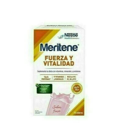 MERITENE 30 G 15 SOBRES FRESA