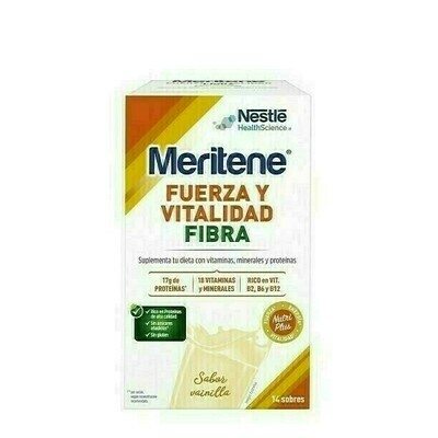 MERITENE FIBRA 35 G 14 SOBRES VAINILLA