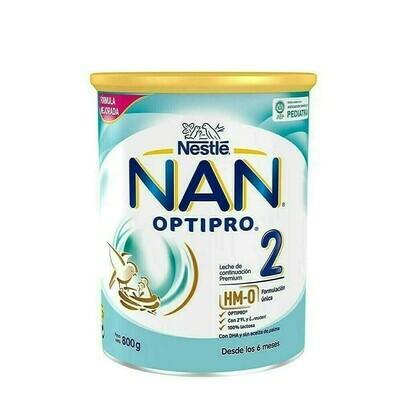 NAN OPTIPRO 2 LECHE LACTANTES DE CONTINUACION 800 G